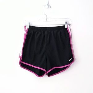 Nike FIT Dry pink and black lined shorts